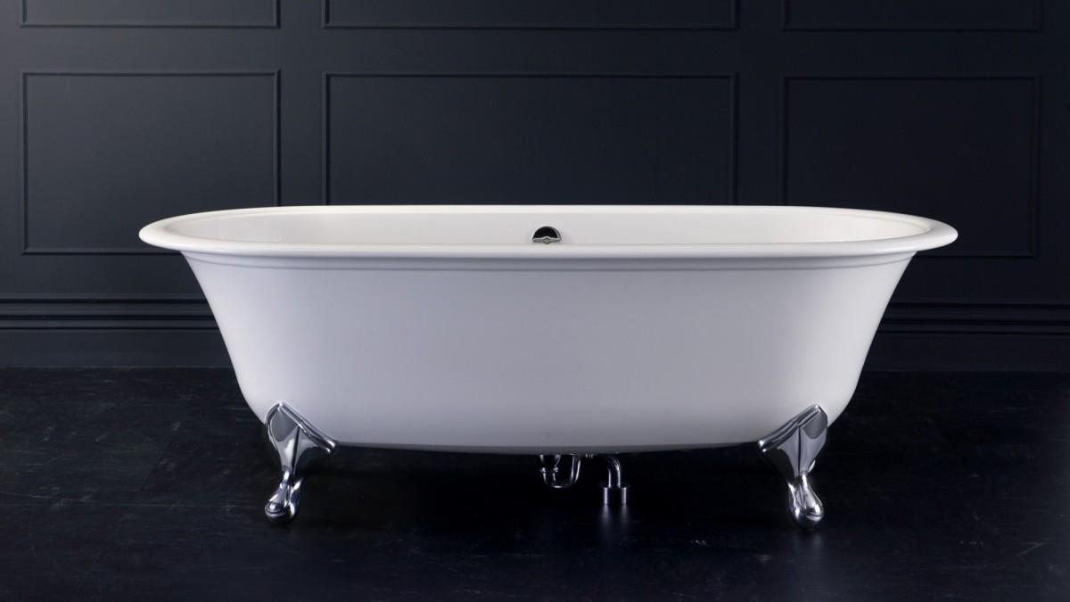Victoria+Albert Ванна Radford 190, белая, ножки металлические хром