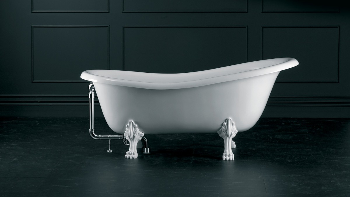 Victoria+Albert Ванна Roxburgh 170, белая, ножки металлические белые
