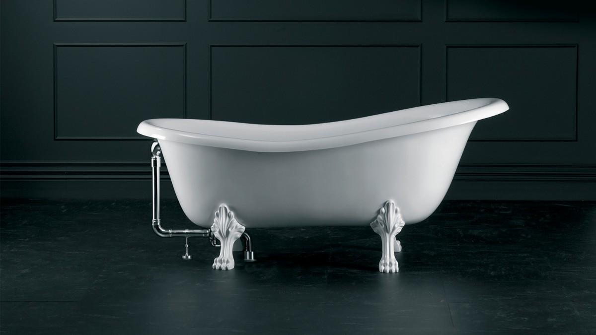 Victoria+Albert Ванна Roxburgh 170, белая, ножки металлические состаренный никель