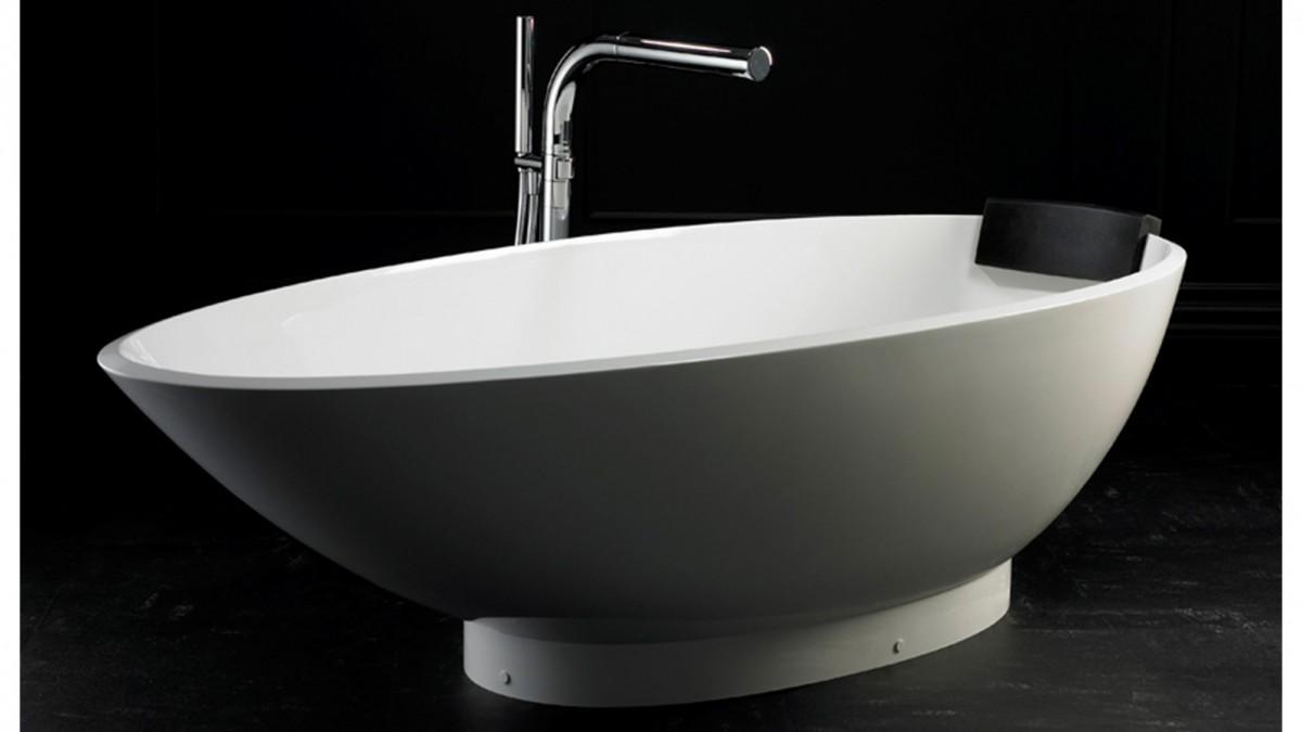 Victoria+Albert Подголовник для ванны Napoli, чёрный