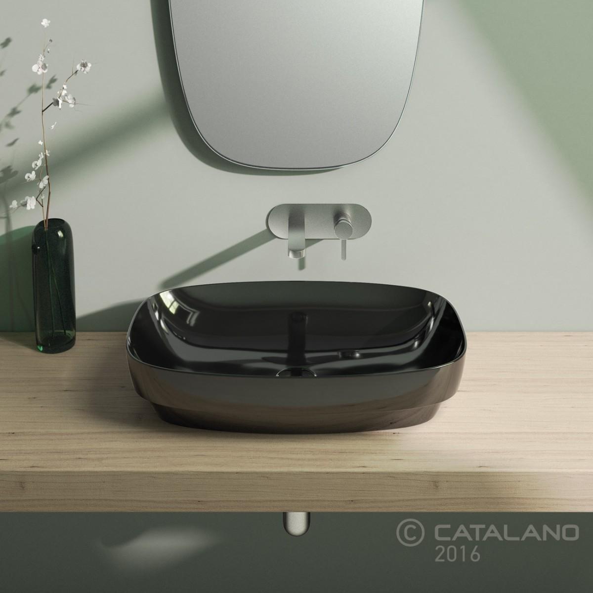 Catalano Colori Green Lux Раковина накладная 65*40, черная